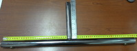 Основание для панели-сетки (хром) MS-18-2/R-70  без опор