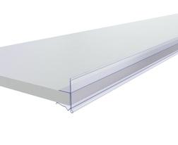 Ценникодержатель для холодильных витрин СС39 L1000мм (прозрачный) для сетчатых полок, стекла, ЛДСП