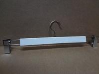 Вешалка деревянная с прищепками для брюк и юбок Длина 375мм Цвет: белый