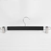 Вешалка деревянная с прищепками для брюк и юбок Длина 375мм Цвет: черный