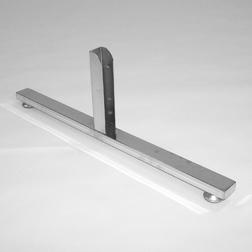 Опора двухсторонняя, ТР-09(40) хром, 640мм для стойки 40х40