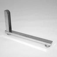 Опора односторонняя, ТР-07(40)  хром, 420мм, для стойки 40х40