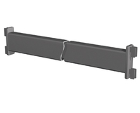 Стяжка, ТР-17(40)  хром, 1200мм, для стойки 40х40, (L=1147)