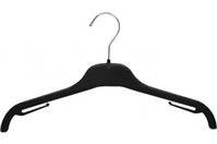 Вешалка для трикотажа и легкой одежды, 360 мм B 525, пластик черный, Абботт
