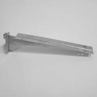 Полкодержатель для деревянных полок 300 мм двойной, хром
