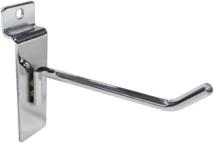 Крючок для экономпанели 100 мм D6 хром (от упаковки, по 200шт)
