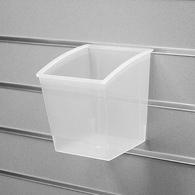 Короб пласт.прозрачный,150*150*178 мм, 01-030-CL с кармашком для ценника