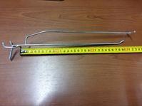 Крючок для ценника на перфорацию 300мм, хром цинк, шаг 50, d5 мм