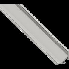 Профиль угловой для светодиодной ленты алюминий, скошеный 16х16х2000 (тип 1-2)