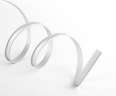 Профиль ГИБКИЙ накладной для светодиодной ленты с рассеивателем, заглушками и клипсами (тип 9)