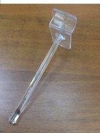Крючок пластиковый для экономпанели 100 мм прозрачный