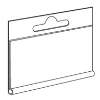 Ценникодержатель 40х60 подвесной для еврокрючка (горизонтальный)
