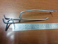 Крючок для ценника на перфорацию 150мм, хром цинк, шаг 50, d5 мм