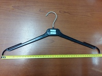 Вешалка для трикотажа и легкой одежды, 410 мм, пластик черный, PL 41