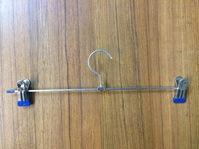 Вешалка для брюк (плечики с прищепками), 350 мм, хром, металл