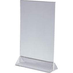 Подставка А4 настольная двухсторонняя (вертикальная), акрил (Подставка под меню, тейбл тент)