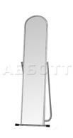 Зеркало примерочное напольное 500Lх500Dх1550H, зеркальное полотно1500х280 мм, хром