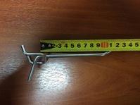 Крючок на перфорацию 100 мм, хром цинк, шаг 50, d5 мм