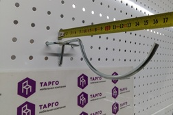 Крючок для инструмента  на перфорацию, хром цинк, шаг 50, d5 мм