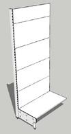 Стеллаж металлический с полками 1000х580х2400 (осн500, 2х400, 2х300, без цок)