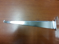 Кронштейн для стеклянной полки 300 мм хром (уценка)