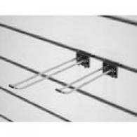 Крючок для экономпанели двойной 300 мм, еврокрючок D6 хром