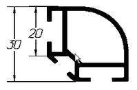 ТАТИ Алюминиевый профиль СП 10, хлыстом, без покраски