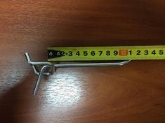 Крючок на перфорацию 100 мм, хром цинк, шаг 50, d5 мм (от упаковки, по 200шт)
