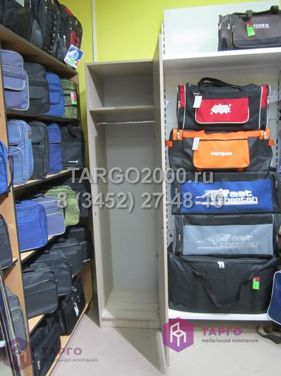 Шкаф в магазин аксессуаров одежды