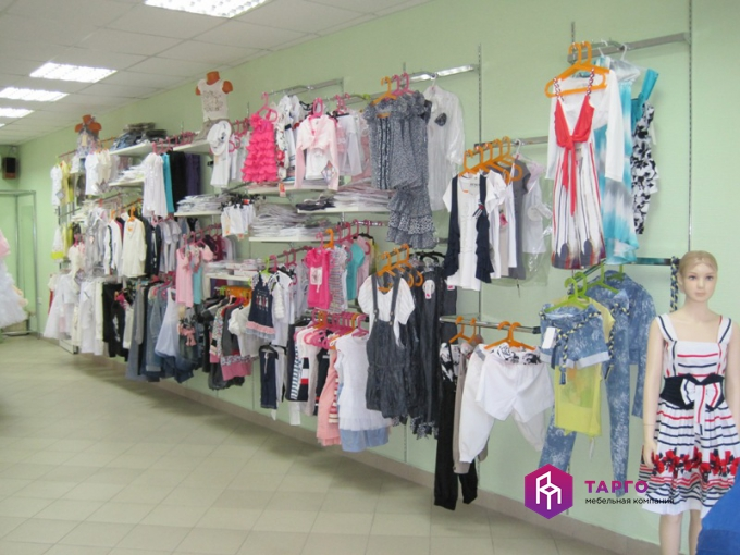 Система вертикаль для магазинов одежды