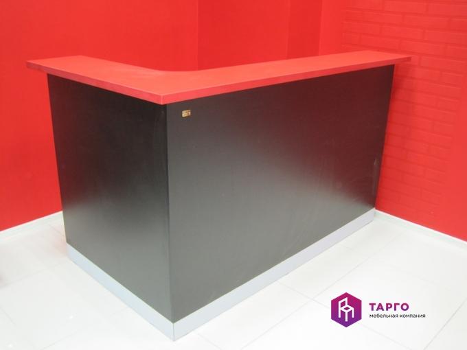 Стойка продавца (ЛДСП черный и красный)
