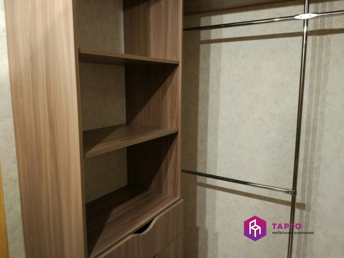 Шкаф для гардеробной (лдсп ясень шимо темный)