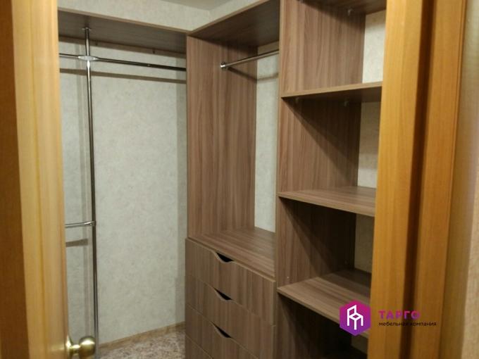 Шкаф для одежды с ящиками и штангой (лдсп ясень шимо темный)