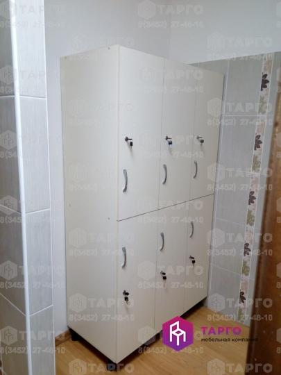 Шкаф в раздевалку на 6 мест (ЛДСП ваниль)