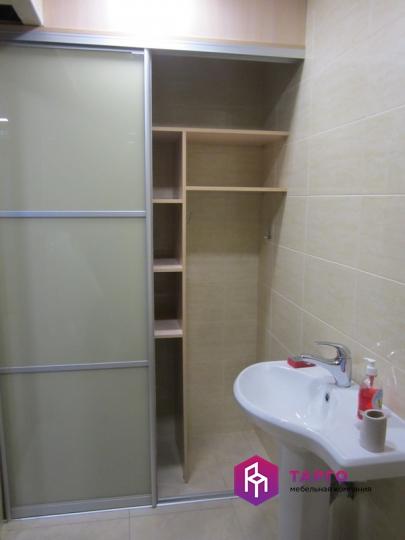 Шкаф встроенный Дуб молочный и стекло с пленкой 3.JPG