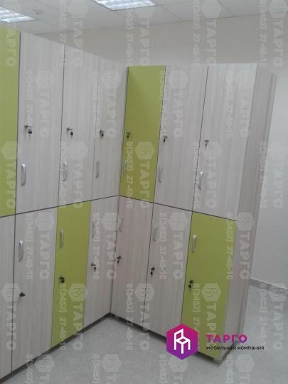 Шкафы для раздевалки (ЛДСП карамель и лайм)