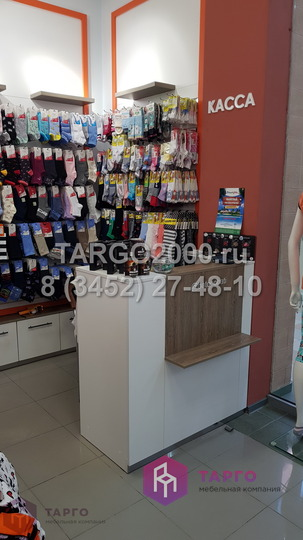 Стойка продавца в магазин колготок и носков.